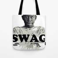 tyler the creator Tote Bags featuring Tyler The Creator SWAG by Misadventures
