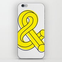 ampersand iPhone & iPod Skins featuring Ampersand by MADEYOUL__K