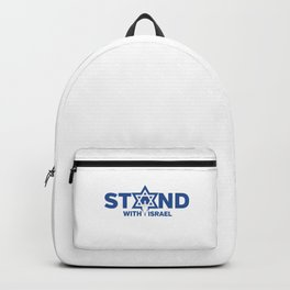 I Stand With Israel Star Of David Jewish Support Humor Cool Pun Design Gift Backpack