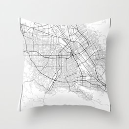 Minimal City Maps - Map Of San Jose, California, United States Throw Pillow