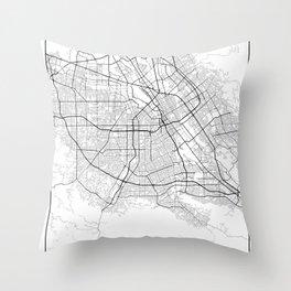 Minimal City Maps - Map Of San Jose, California, United States Throw Pillow