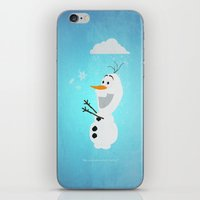 olaf iPhone & iPod Skins featuring Olaf (Frozen) by Robert Woods