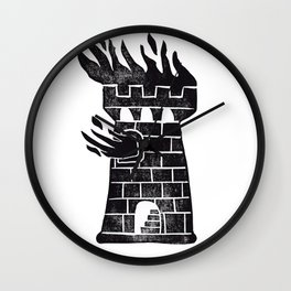 Burning Tower Wall Clock
