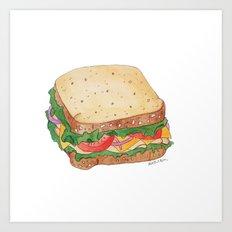 S is for Sandwich Art Print