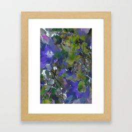 Violet Water Blossoms Framed Art Print