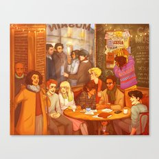 Les Misérables: A Group Which Almost Became Historic Canvas Print