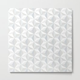 White geometry Metal Print