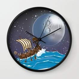 The Vikings Wall Clock