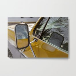 Vintage Car Mirror Metal Print