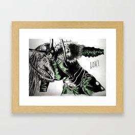 Loki Laufeyson Drawing Framed Art Print