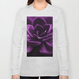 Succulent Plant In Violet Color #decor #society6 #homedecor Long Sleeve T-shirt
