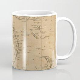 Vintage Map of Australia & New Zealand (1812) Coffee Mug