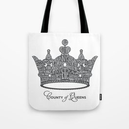 County of Queens | NYC Borough Crown (GREY) Tote Bag