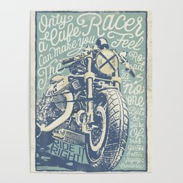 Feel the Road with a Cafe Racer Poster