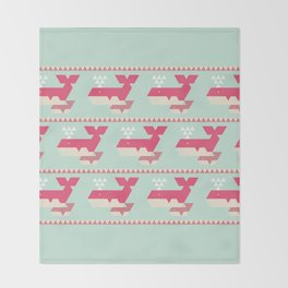 Triangwhales Throw Blanket