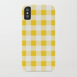 Yellow and White Buffalo Check iPhone Case