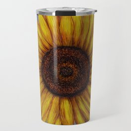 Sunflower by Lars Furtwaengler | Ink Pen | 2011 Travel Mug