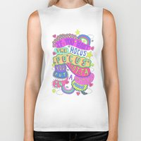 hocus pocus Biker Tanks featuring If You Want The Hocus Pocus You Gotta Put A Payment In Focus by Saif Chowdhury