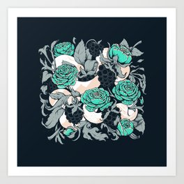 Berries and Snake Florals Art Print