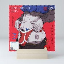 KNUCKLES BOY II Mini Art Print