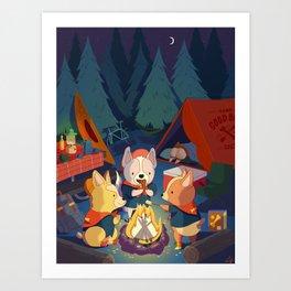 Camp Good Boy Art Print