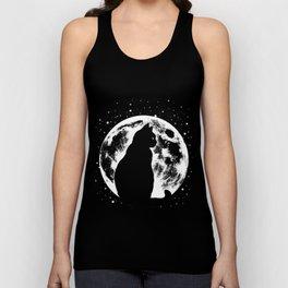 Cat Moon Silhouette Unisex Tank Top