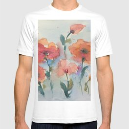Flowers in watercolor T-shirt