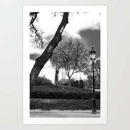 Cloudy day in the park Art Print