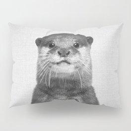Otter - Black & White Pillow Sham