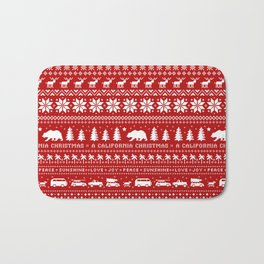 California Christmas Pattern Bath Mat