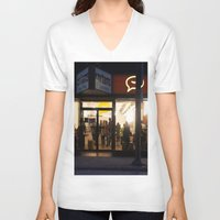 vancouver V-neck T-shirts featuring Cartems Vancouver by RMK Creative