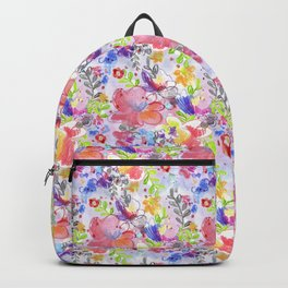 Watercolor summer floral pattern Backpack