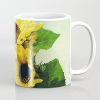 sunflowers Mugs featuring sunflowers by Sylvia Cook Photography