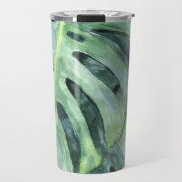 Palm leaves print Travel Mug