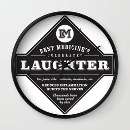 Laughter is the Best Medicine Wall Clock