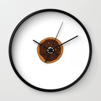 doughnut Wall Clocks featuring doughnut by THE HOUSE OF FOX