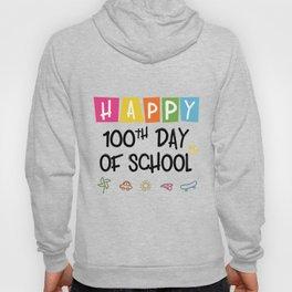Happy 100th Day Of School Funny Emoji Hoody