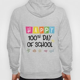 Happy 100th Day Of School Funny Emoji Hoody