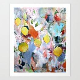 When Life Gives You Lemons, Paint Them Art Print