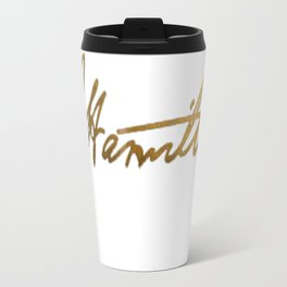 Alexander Hamilton Gold Signature Travel Mug