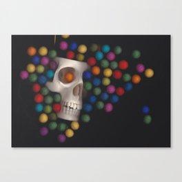 Skull and felt 2 Canvas Print