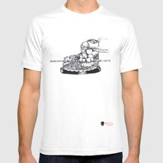 Knight cart bumper Mens Fitted Tee White MEDIUM