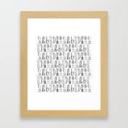 BBBBBBBBBB Framed Art Print