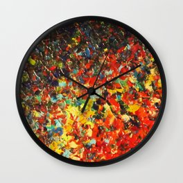 END OF THE RAINBOW - Bold Multicolor Abstract Colorful Nature Inspired Sunrise Sunset Ocean Theme Wall Clock