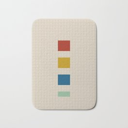 four elements || tweed & primary colors Bath Mat
