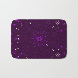 Psychadelic Space Mandala - Blackberry Bath Mat
