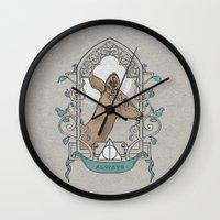 snape Wall Clocks featuring Severus by Zeke Tucker