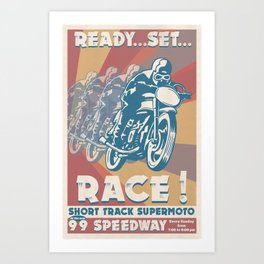 Supermoto! Art Print