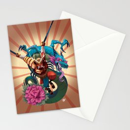 Samurai and Dragon Stationery Cards