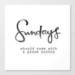 Sundays Canvas Print